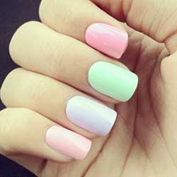 Uñas color pastel bonitas