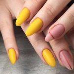 Uñas amarillo mate