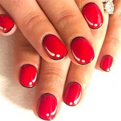 Uñas rojas efecto dibujo
